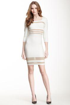 3/4 Length Sleeve Bandage Dress