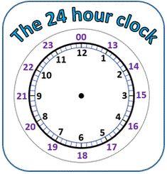 Convert 12 hour to 24 hour clock sheet 1 | Math Teaching Ideas ...