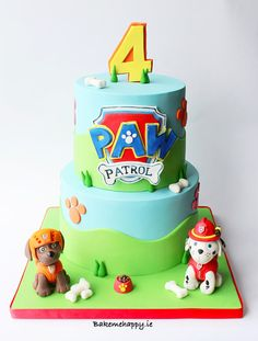 Paw patrol cake by Elaine Boyle....bakemehappy.ie