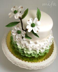 Ruffle Dogwood Cake