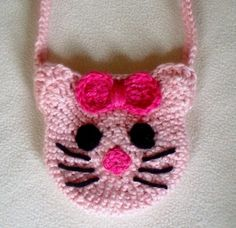 Hello Kitty Crocheted Purse