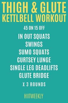 Kettlebell Challenge, Kettlebell Cardio, Kettlebell Training, Hiit, Lose Thigh Fat Fast, How To Lose Weight Fast, Best Cardio Workout, Fun Workouts, Workout Schedule