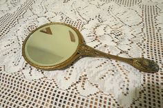 vintage mirror hand mirror by MyVintageAngels on Etsy, $35.00
