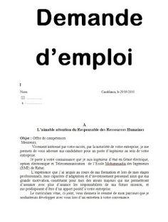 8 demandes manuscrites de recrutement en word doc Word Doc, Cv Words, Other Ways To Say, Positivity, Tips, Pdf Word, Bob, Articles, France
