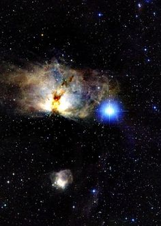 NGC 2024, the Flame Nebula, is located at a distance of 400-500 pc and is part of the Orion Molecular Cloud Complex (Orion B). - From the 2Mass Image Gallery