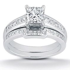Other Fine Rings Audacious 1.10 Carat Emerald Cut Diamond Engagement Ring 14k White Gold Rings Size L M N J