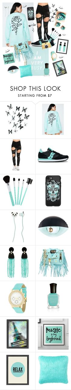 """""""smile :)"""" by marina-hofman-mallander ❤ liked on Polyvore featuring Umbra, Dolls Kill, Saucony, Casetify, Forever 21, Kenzo, Nest, Moschino, Kate Bissett and Deborah Lippmann"""