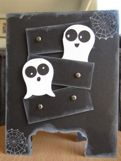 Owl Ghosties #stampin' Up! #owl punch #ghosts #cards #diy