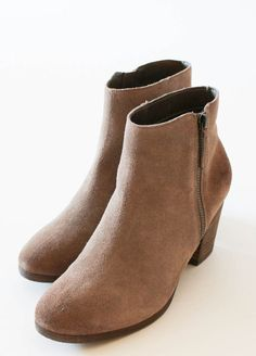 Stack Taupe Booties