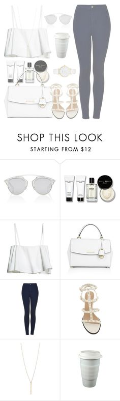 """please, forgive me"" by aurorasrose ❤ liked on Polyvore featuring Christian Dior, Bobbi Brown Cosmetics, Michael Kors, Topshop and Kate Spade"