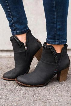 68d3e820c06 Weston Leather Booties (Black)  Blackhighheels