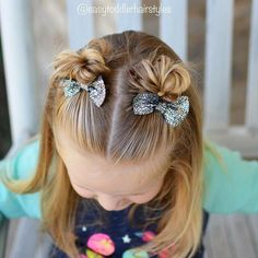 Front messy buns Girls hairstyle