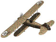 fiat cr 32 - italy airforce - 160 squadriglia 3d model obj fbx c4d lwo lw lws 10