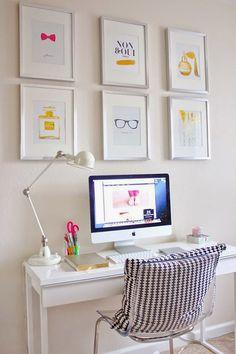 post com ideias para decorar home office Home Office Space, Home Office Design, Home Office Decor, Home Design, Office Ideas, Office Designs, Office Spaces, Modern Design, Office Inspo