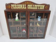 Shadow Box Enesco Brand Vintage with Some Mini's 26 Compartments | eBay