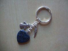 Healing Angel LAPIS LAZULI Gemstone Bag charm / keyring