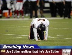 """NFL Memes on Twitter: """"Jay Cutler & the Chicago Bears lose again ..."""