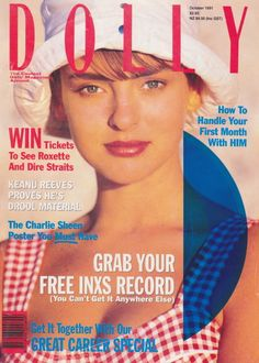 Dolly magazine for the early Aussie girl. Grab your free INXS record! Jenny Morris, Right Said Fred, My Favorite Year, Sam Mcknight, My Own Private Idaho, Tatjana Patitz, Girls Bible, Nadja Auermann, 90s Makeup