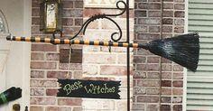 garden witch decoration halloween - Escoba de bruja