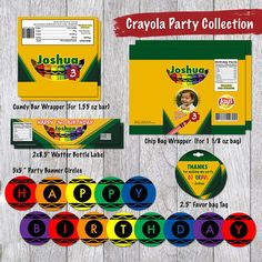Scratch Off Tickets, Scratch Off Cards, Party Stores, Party Items, Crayon Birthday Parties, Party Co, Party Favors, Color Crayons, Crayon Box