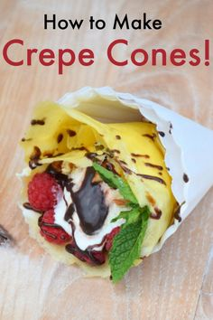 Crepe cone recipe. These are crazy easy to make and so fun to eat! Wow your friends and family at your next gathering with these tasty crepe cones.  #SunsOutSpoonsOut #ad