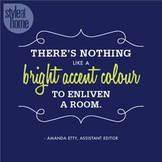 There is nothing like a bright accent color...