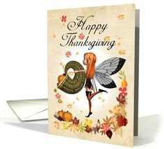 Thanksgiving Card - Cute Little Pumpkin Fairy card (664391)