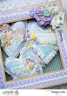 Fabric Hearts for Graphic 45