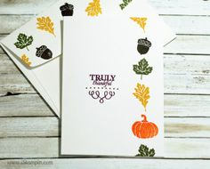Today's Create a Card Monday features an exclusive Paper Pumpkin stamp set by Stampin' Up! from September's kit. Pinterest is a great resource for alternative ideas which is where I saw this design. Visit www.iStampin.com for more information.