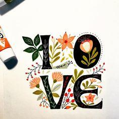 Lettering, Flower Power, Creations, Diy, Illustration, Cards, Blog, Inspiration, Pintura