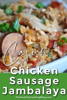 Chicken Sausage Jambalaya Recipe- Slow Cooker Cajun Chicken Dinner #healthychicken
