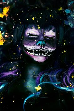Awesome Cheshire cat makeup!!