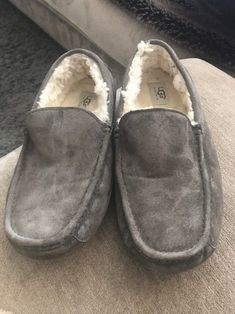 44334b6f35a UGG Australia 5775 Ascot Suede Slipper in Gray Men s Size  11  fashion   clothing