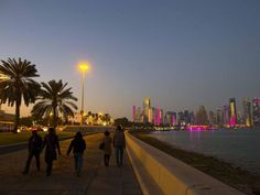 Night lights: take a stroll along the Corniche