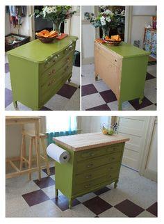 Kitchen Island From A Dresser  Chalkboard On Back! | Kitchen | Pinterest |  Dresser, Kitchens And Kitchen Pendants