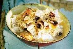 Intialainen kanakorma (Mughlai chiken Korma)