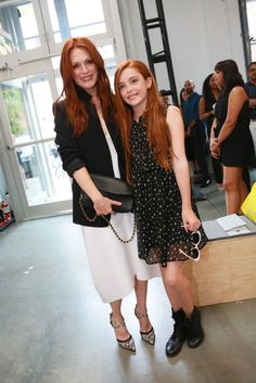Julianne Moore and her daughter Liv Front Row at Reed Krakoff [Photo by Scott Rudd]