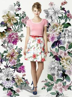 The Maggie Top and Rouge Rose Skirt ♡ Pretty Outfits, Cute Outfits, Pretty Clothes, Flower Shorts, Review Fashion, Fashion 2015, Fashion Beauty, Australian Fashion, Review Dresses
