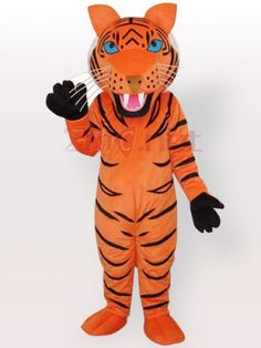 $209.73Orange Tiger with Black Stripes Adult #Mascot #Costume<br #/>