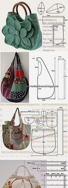 Marvelous Make a Hobo Bag Ideas. All Time Favorite Make a Hobo Bag Ideas. Diy Bags Patterns, Sewing Patterns For Kids, Purse Patterns, Fabric Crafts, Sewing Crafts, Sewing Projects, Techniques Couture, Sewing Techniques, Patchwork Bags