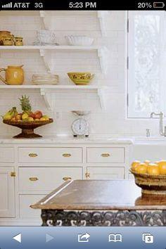For floating shelves in kitchen