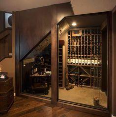 Interior, Heavenly Wine Storage Under Stairs With Wine House And Underground…