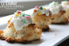 Easter Macaroons...so simple to make at home! A yummy coconut Easter treat!