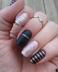 you should stay updated with latest nail art designs, nail colors, acrylic nails, coffin… Latest Nail Art, Trendy Nail Art, Fun Nails, Pretty Nails, Edgy Nails, Grunge Nails, Oval Nails, Nailart, Line Nail Art