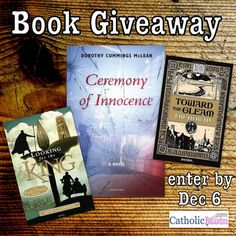 This week, we have 3 great fiction titles from Ignatius Press in our book giveaway. Be sure to enter!