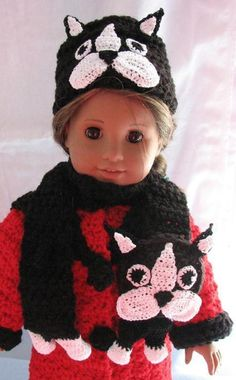 Am Girl Doll Boston Terrier Hat-Scarf   Craftsy