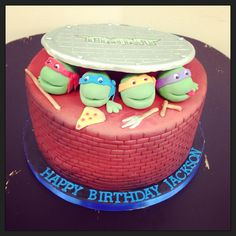 Tmnt Cake From Walmart Teenage Mutant Ninja Turtle Party