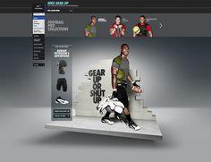 #Nike Gear Up by Rasmus Wangelin, via #Behance #Webdesign