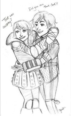 AWWWWWW!!!!!!! I want this in the series!!!! This should be in the series... < Hiccstrid. :)
