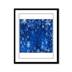 Snowflakes_Background_Texture Framed Panel Print